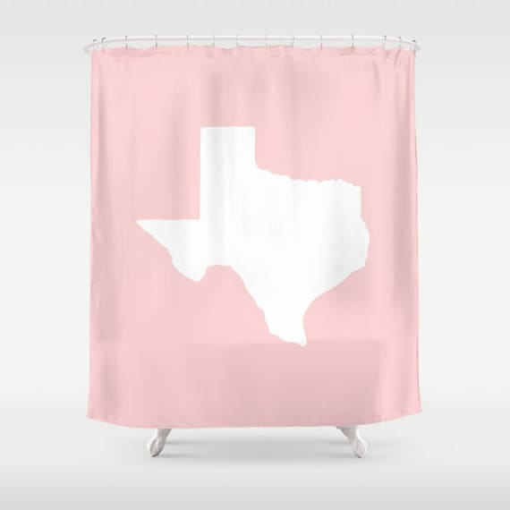 Texas Shower Curtain - Blush Pink Shower Curtain - Modern Shower Curtain - Pink Shower Curtain - Texan Pride Shower Curtain Blush Bath Decor