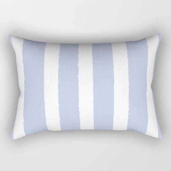 Periwinkle Lumbar Pillow . Periwinkle blue lumbar pillow . Periwinkle Toddler Pillow . Striped Pillow . Periwinkle Travel Pillow 14 x 20