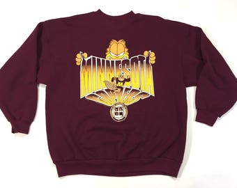 University of Minnesota Golden Gophers garfield sweatshirt