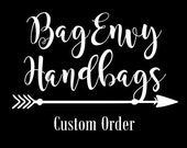 Custom Listing For (Nicole)  Large Monterey Diaper Bag with Vegan Leather