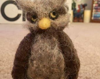 Handmade Needle Felted Owl