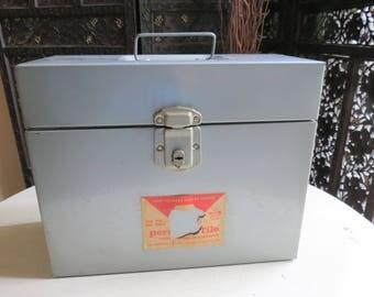Vintage Metal File Box by Skotch Corporation