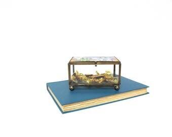 Vintage Glass Jewelry Box Wizard of Oz