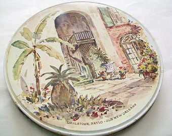 Vintage New Orleans Tin, Brulatour Patio, Old New Orleans