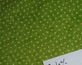 2  yards GREEN DOT Fabric, Green Cloth, Material, Crafts, Home Decor, Quilting, Dress, DlY,