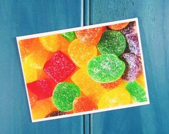 Rainbow Jubes Lolly Thank You Greeting Card Blank