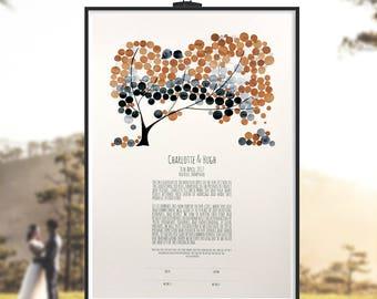 Jewish marriage certificate - Ketubah print - custom fonts