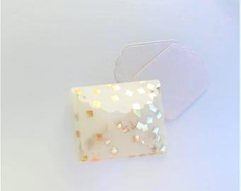 Gold vellum mini notecard set  - set of 5