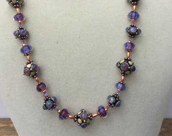 Lampwork Beaded Long Necklace