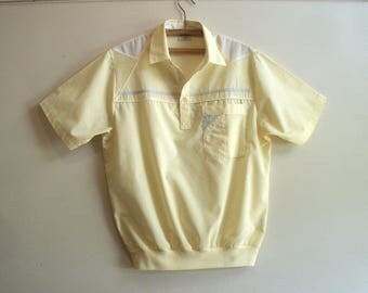 1970s mens sports/golf pullover shirt