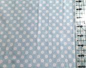 Kids Knit Fabric - Riley Blake Knit Cotton Lycra Fabric - Blue Daisy Knit Fabric -  Mini Floral Cotton Spandex Knit Fabric