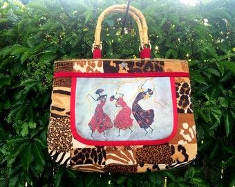 AFRICA COLLECTION Summer Handbag, Handmade  Purse, Handmade Bag,  Purse, Handbag