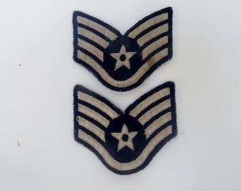Free Shipping Vintage Air Force Staff Sergeant Patches Arm Patches