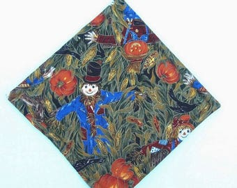 Autumn Fall Scarecrow, Pumpkins and Corn Pot Holders Set of Two Quiltsy Handmade