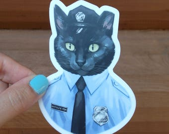 "Officer Tom 4"" Sticker"