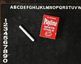 Vintage Kids Chalkboard, Blackboard, Playtime Chalk, Alphabet, ABCs, 123s, First Words, Retro Classroom, Kindergarten, Preschool