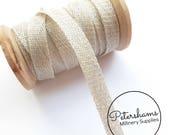 1cm Sinamay Bias Binding Tape Strip (1.6m/1.7yards) for Millinery & Hat Making - Pale Grey