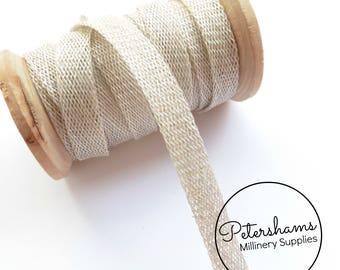 1cm Sinamay Bias Binding Tape Strip (1.6m/1.7yards) for Millinery & Hat Making - Pale Grey