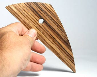 Zebra Wood Triangular Rib