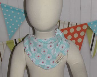 new baby toddler girl  one piece bandana bib flowers FREE shipping with 25 dollars purchase