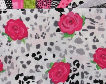 French Country Roses Quilt Kit-Fast-Easy-Fun-Gorgeous Animal Print and Roses-French Country Decor!