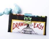 Women's Wallet, Art Fabric Wallet for women, gift for teacher, gift for woman, art student gift, artist gift, artsy gift idea, clutch