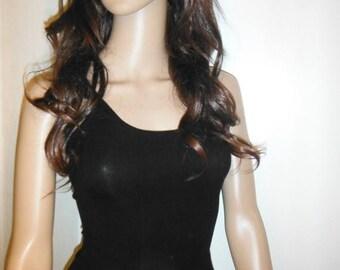 Flattering Womens Black T Shirt--sz Sm--HARD FIND