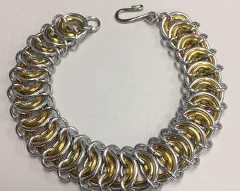 Gold and Silver Vertebrae Bracelet