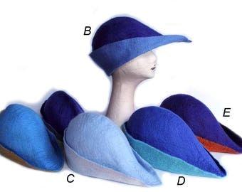 Archers Hat, Handfelted Hats, Medieval Felt Hat