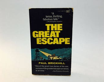 Vintage Pop Culture Book The Great Escape by Paul Brickhill 1978 Paperback