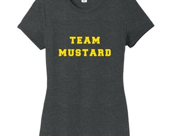 Team Mustard - Funny Food Baseball Women's Fitted T-Shirt