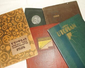 Vintage UTOPIAN YEARBOOK • Owensmouth High School • 1926 thru 1931 • Cagnoga Park California • Your Choice of One