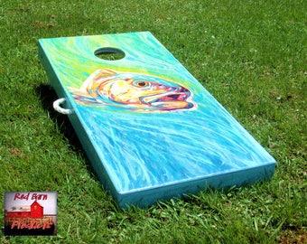 ACA American Handmade Deluxe Custom Drum Cornhole Board Set