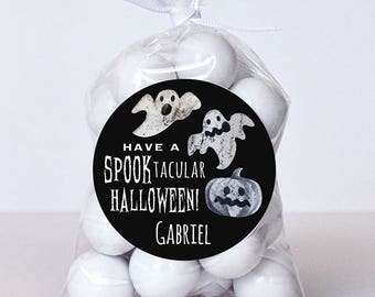 Halloween Stickers - Spooktacular Halloween Ghosts - Sheet of 12 or 24