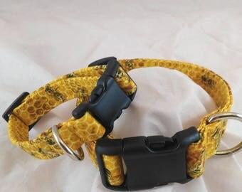 Bees Honeycomb Dog Collar, Bees Honeycomb Cat Collar