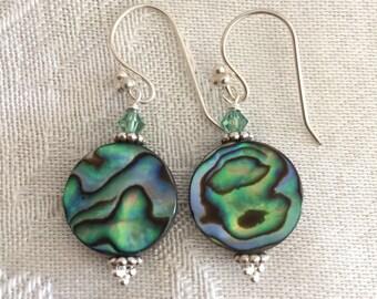Abalone Earrings - Shell Jewelry - short earrings