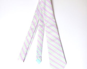 Mens Neckties pastel tie Pastel Seersucker multicolor seersucker Mens Tie seersucker ties Cotton Ties Pink Purple Blush Green Yellow Blue