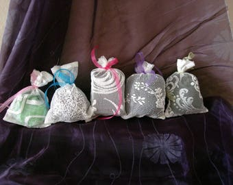 "Handmade Fabric bags, packaging gift pouches Set, Lace Fabric Gift Bags 7x5"" 18x12cm"