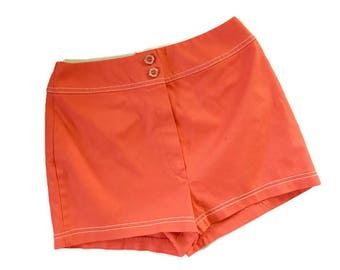 Vintage 60s Hot Pants / High waisted shorts / White STag shorts  XS