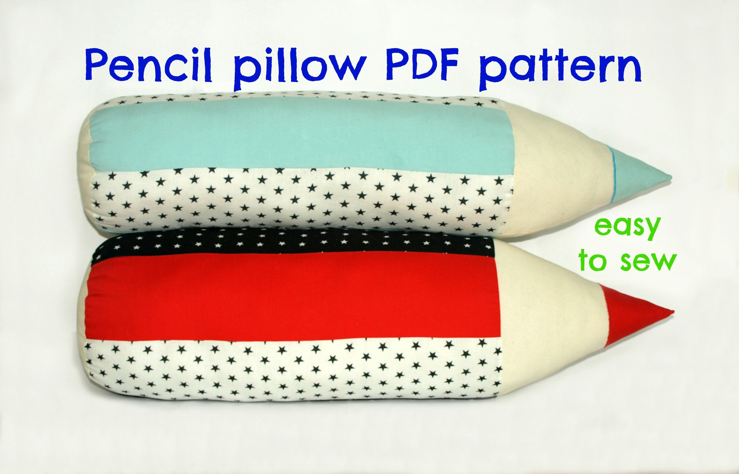 Decorative pillow pattern Softie pattern Pencil pillow