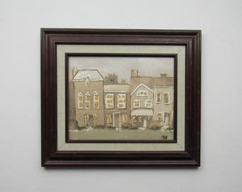 """framed print - apartment - """"The Lights Are On """" -townhouse -wall art - decorative artwork"""