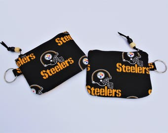Change Purse, Credit Card Case, Key Case, Wallet, Pittsburgh Steelers, NFL