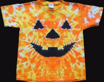 Youth Tie Dye T-shirt Jack O'Lantern
