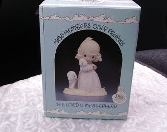 "Precious Moments ""The Lord is My Shepherd"" with Original Box, 1985, Special Edition, Collectible Figurine"