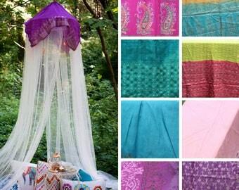 Child's Party Photo Backdrop- Wedding Photography Prop - Boho Props - Gypsy Backdrop - Photo Shoot Backdrop - Silk Canopy -