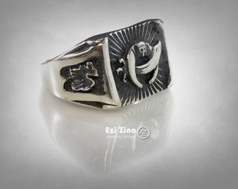 MASONIC MASON SHRINER camel  ring solid silver sterling 925