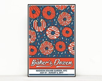 Phish Poster - The Baker's Dozen - Madison Square Garden, NYC 2017