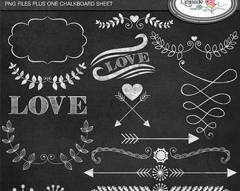 65%OFF SALE Laurel, hearts and arrows clip art chalkboard style, chalkboard clip arts, arrow clip art, hipster clip art, C150
