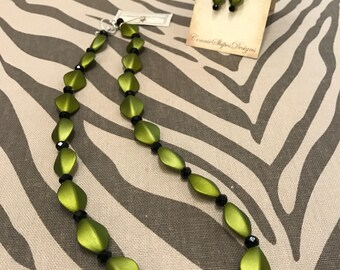 Velvety Lime GreenNecklace