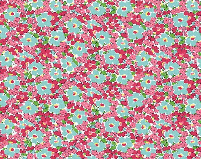 Dainty Darling Fabric by Lindsay Wilkes from The Cottage Mama for Riley Blake Designs and Penny Rose Fabrics - Pink Small Floral